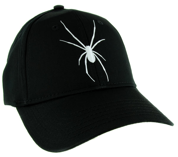 White Print Black Widow Spider Hat Baseball Cap Goth Punk