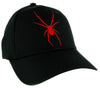 Red Print Black Widow Spider Hat Baseball Cap Goth Punk