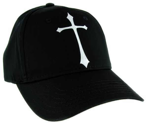 White Medieval Holy Gothic Cross Hat Baseball Cap