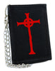 Red Vampire Hunter D Cross Cross Tri-fold Wallet Anime