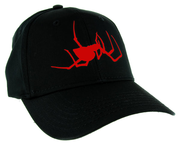 Red Spooky Crawling Black Widow Spider Hat Baseball Cap Halloween