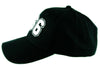 White 666 Number of The Beast Hat Baseball Cap Black Metal Occult