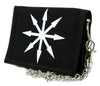 White Chaos Star Symbol of Eight Arrows Tri-fold Wallet Occult