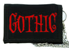 Red Gothic Horror Tri-fold Wallet Tim Burton Style