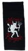 Merry Christmas Krampus Hand Towel Kitchen and Bath Gothic Home Decor Occult