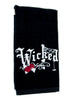 Wicked Halloween Red Rose Spider Web Hand Towel Kitchen and Bath Gothic Home Decor