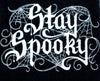 Stay Spooky Spider Web Halloween Hand Towel Kitchen and Bath Gothic Home Decor