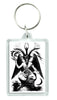 Eliphas Levi Original Baphomet Keychain Occult Key Ring