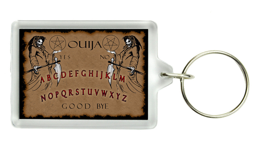 Ouija Board Keychain Occult Death Spirit World Key Ring