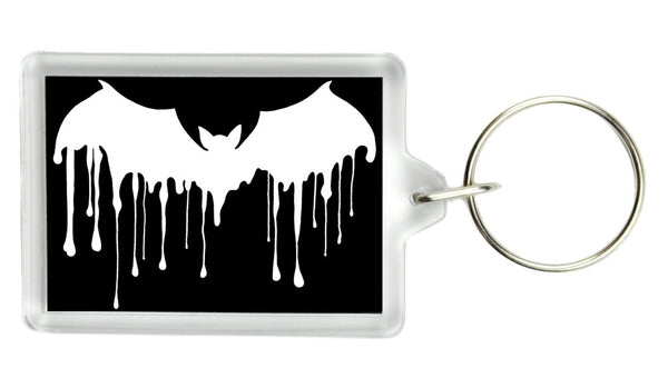 Gothic Drip Bat Keychain Vampire Deathrock Key Ring