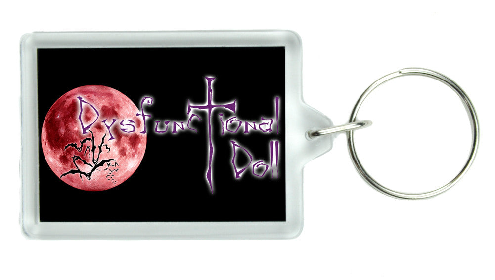 Dysfunctional Doll Logo Keychain Gothic Deathrock Clothing Key Ring