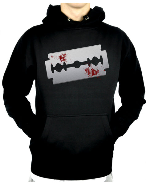 Bloody Razor Blade Pullover Hoodie Sweatshirt Suicide Prevention Awareness