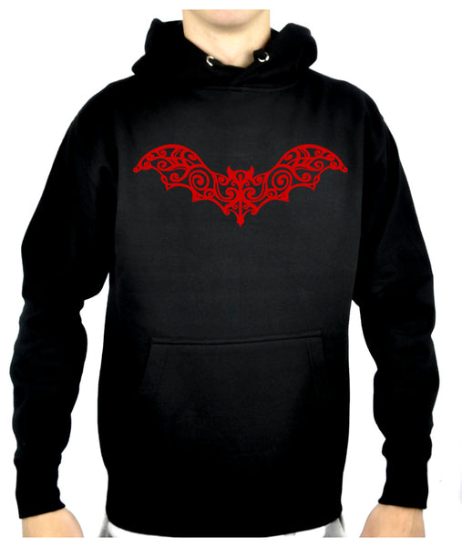 Wrought Iron Red Vampire Bat Pullover Hoodie Sweatshirt