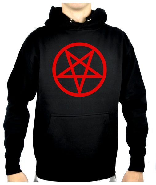 Red Inverted Pentagram Pullover Hoodie Sweatshirt