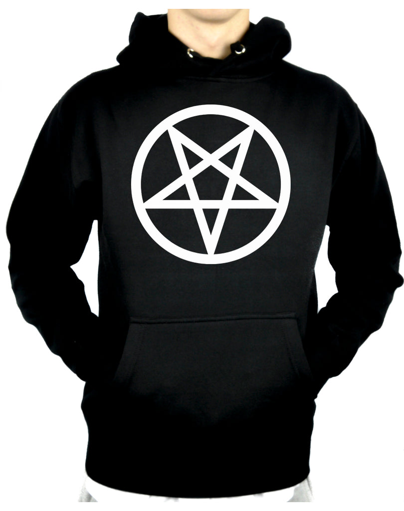 White Inverted Pentagram Pullover Hoodie Sweatshirt