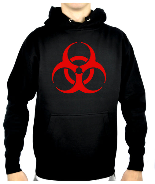 Red Bio-Hazard Radiation Pullover Hoodie Sweatshirt