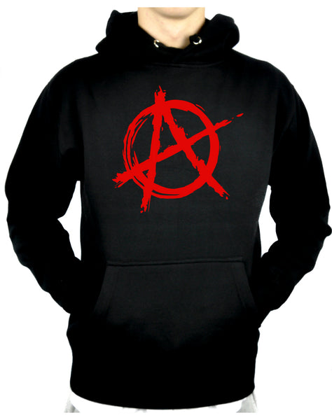 Red Anarchy Punk Rock Pullover Hoodie Sweatshirt