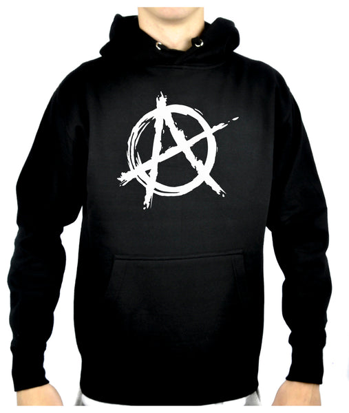 White Anarchy Punk Rock Pullover Hoodie Sweatshirt