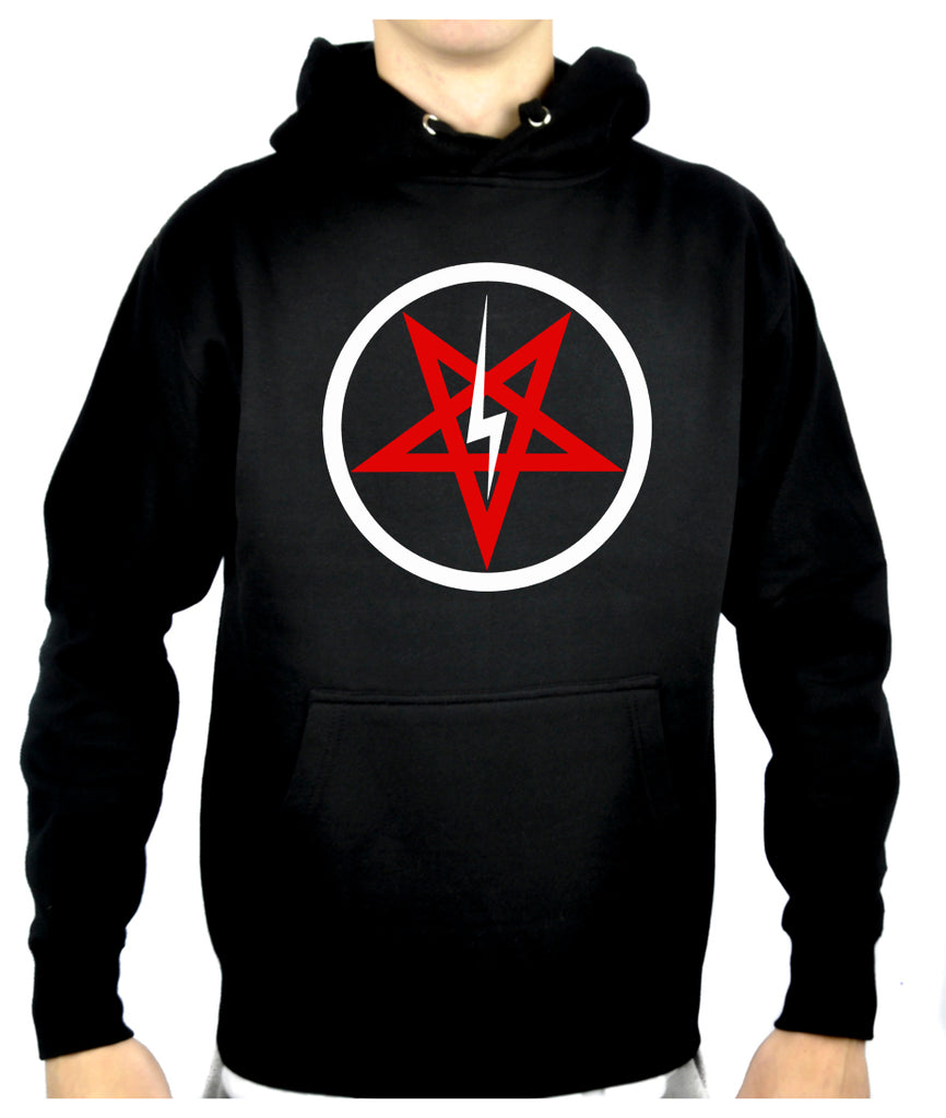 Inverted Pentagram Lightning Bolt Pullover Hoodie Sweatshirt