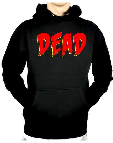 DEAD Blood Red Horror Style Pullover Hoodie Sweatshirt