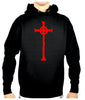 Red Vampire Hunter Celtic Cross Tombstone Pullover Hoodie Sweatshirt