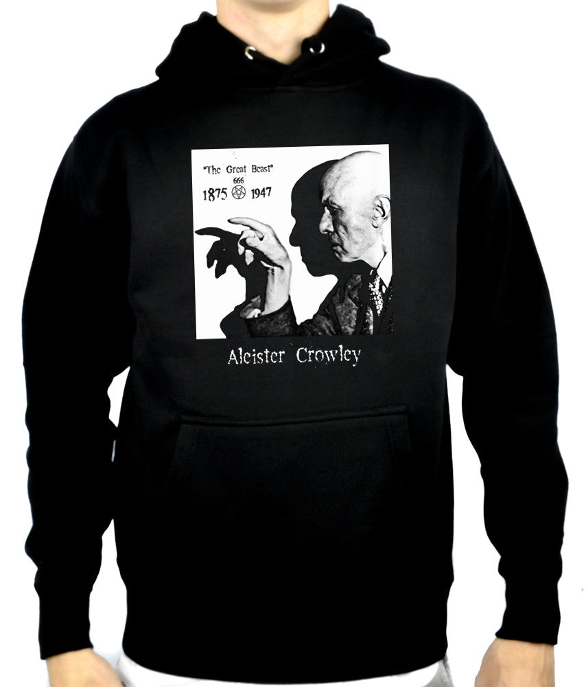 Aleister Crowley Pullover Hoodie Sweatshirt Occult Clothing Black Magician