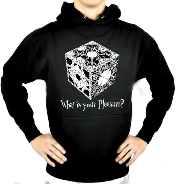 "Puzzle Box ""What is your Pleasure?"" Pullover Hoodie Sweatshirt Horror Pinhead Hellraiser"