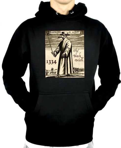 Black Death Plague Pullover Hoodie Sweatshirt Bird Gas Mask