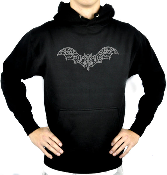 Wrought Iron Grey Vampire Bat Pullover Hoodie Sweatshirt Gothic Clothing