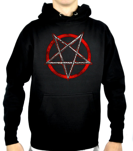 Burn in Hell Inverted Pentagram Pullover Hoodie Sweatshirt Occult Clothing