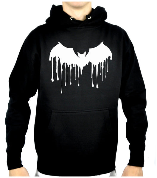 Melting Drip White Vampire Bat Pullover Hoodie Sweatshirt Alternative Clothing
