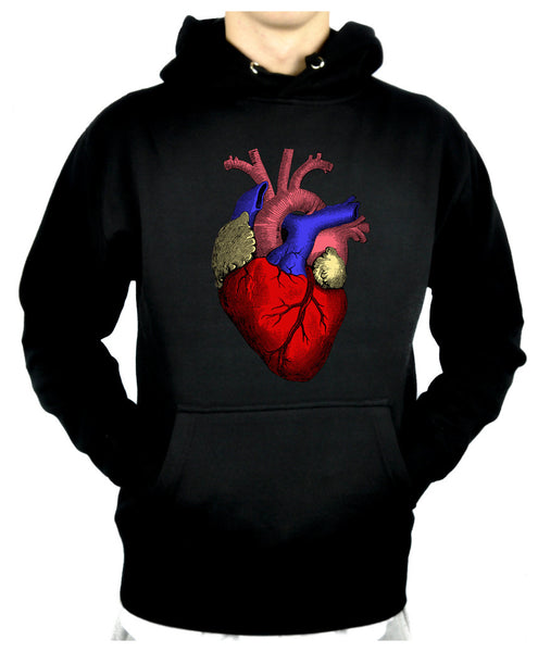 Anatomical Human Heart Pullover Hoodie Sweatshirt Medical Oddities Clothing