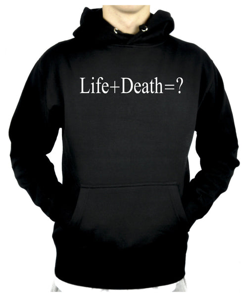 Life + Death = ? Pullover Hoodie Sweatshirt Question Everything Alternative Clothing