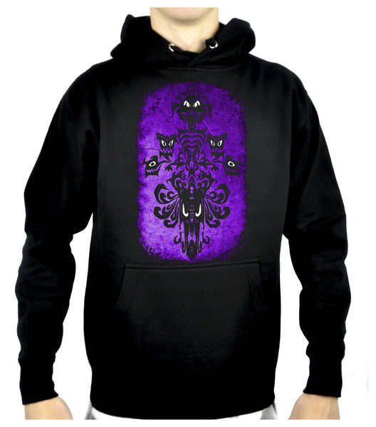 Haunted Mansion Wallpaper Ghoul Pullover Hoodie Sweatshirt Alternative Clothing