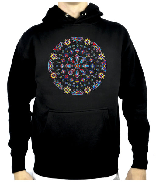 Geometric Gothic Stained Glass Window Pullover Hoodie Sweatshirt