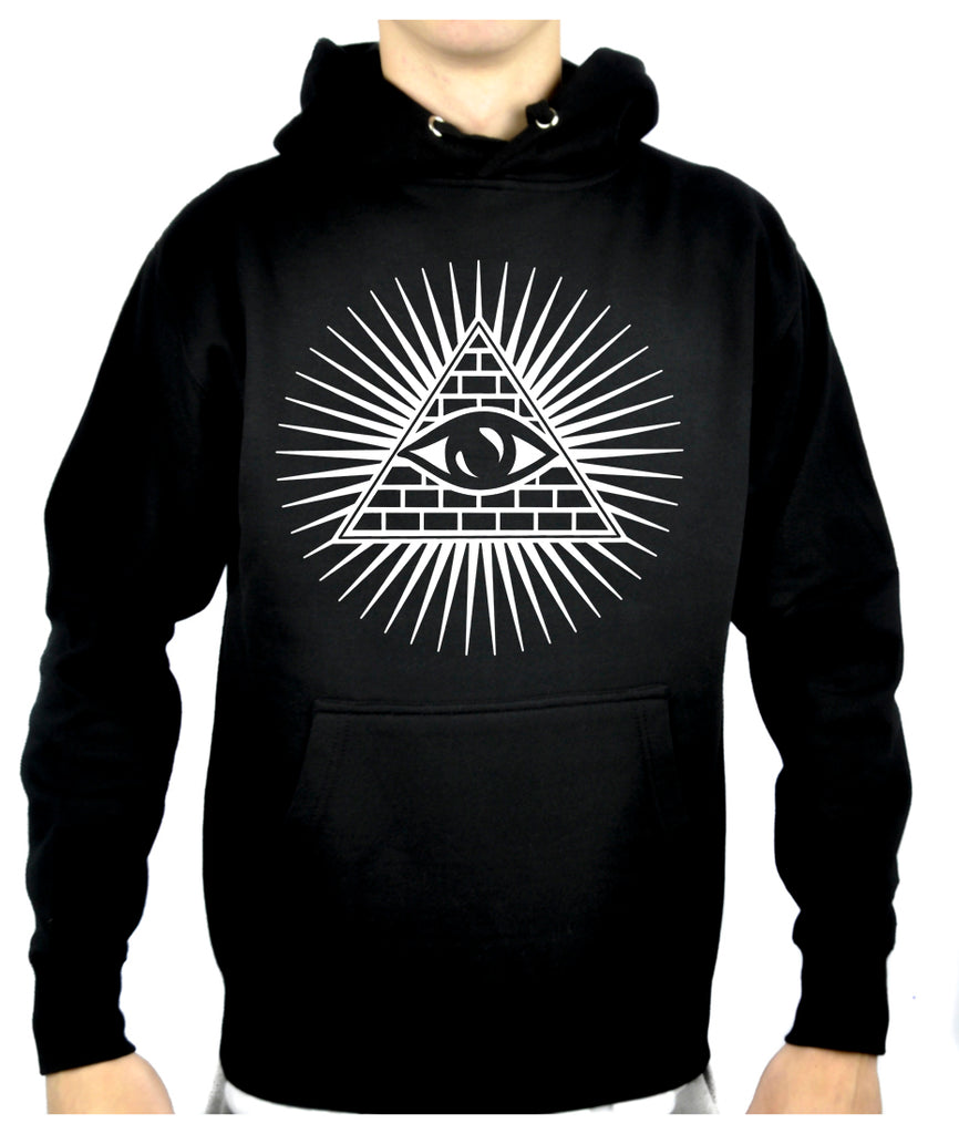 Pyramid w/ All Seeing Eye Pullover Hoodie Sweatshirt