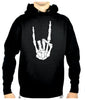 Skeleton Hand Horns Up Metal Pullover Hoodie Sweatshirt Metal