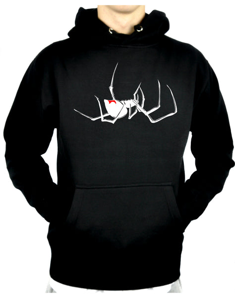 Black Widow Spider Pullover Hoodie Sweatshirt Gothic Clothing