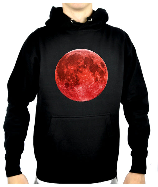 Blood Red Full Moon Pullover Hoodie Sweatshirt Lunar Eclipse