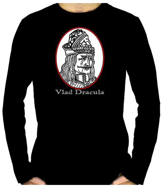 Vlad Dracula The Impaler Men's Long Sleeve T-Shirt Occult Vampire