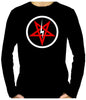 Inverted Pentagram Lightning Bolt Men's Long Sleeve T-Shirt Metal Clothing