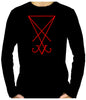 Red Sigil Of Lucifer Men's Long Sleeve T-Shirt Occult Clothing