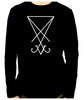 White Sigil Of Lucifer Men's Long Sleeve T-Shirt Occult Clothing