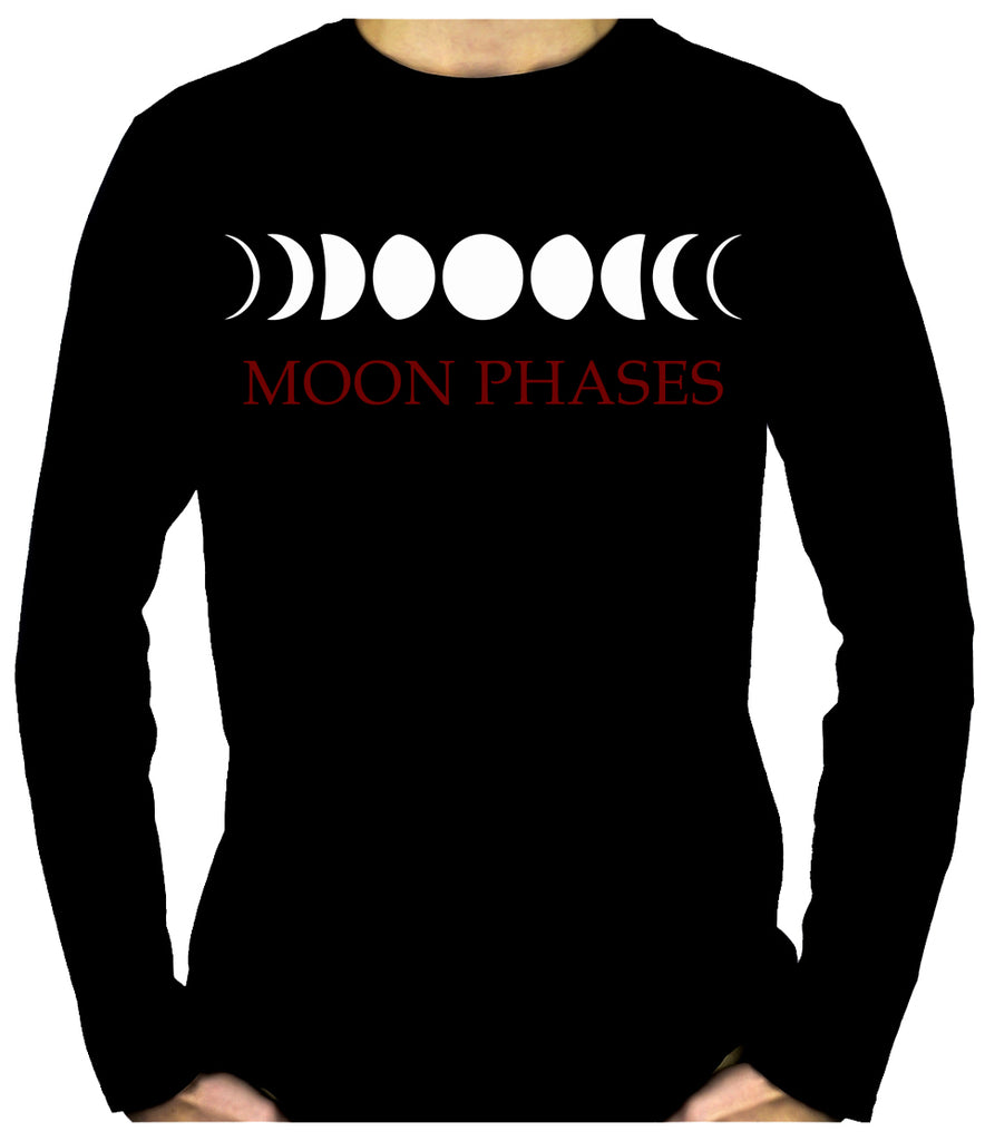 Moon Phases Lunar Cycles Long Sleeve T-Shirt Occult Witchy Clothing