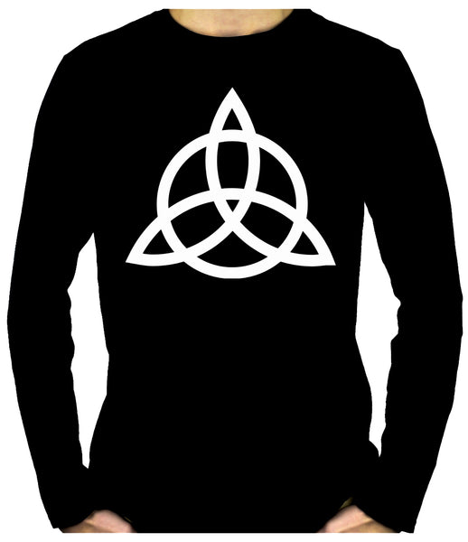 Triquetra Ancient Celtic Protection Symbol Long Sleeve T-Shirt Occult Clothing