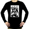 Original Baphomet By Eliphas Levi Long Sleeve Shirt Occult Clothing