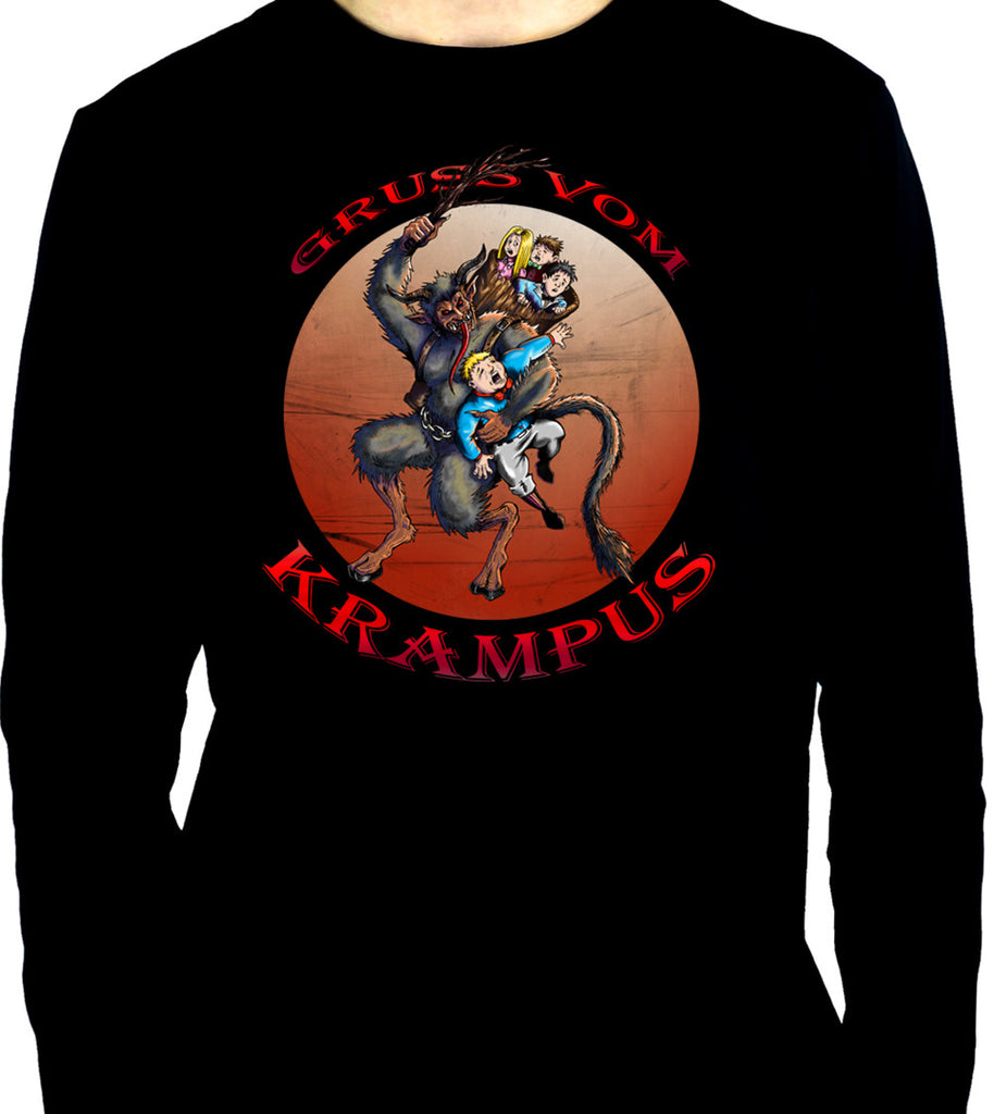 Gruss Vom Krampus Men's Long Sleeve T-Shirt Gothic Christmas Occult