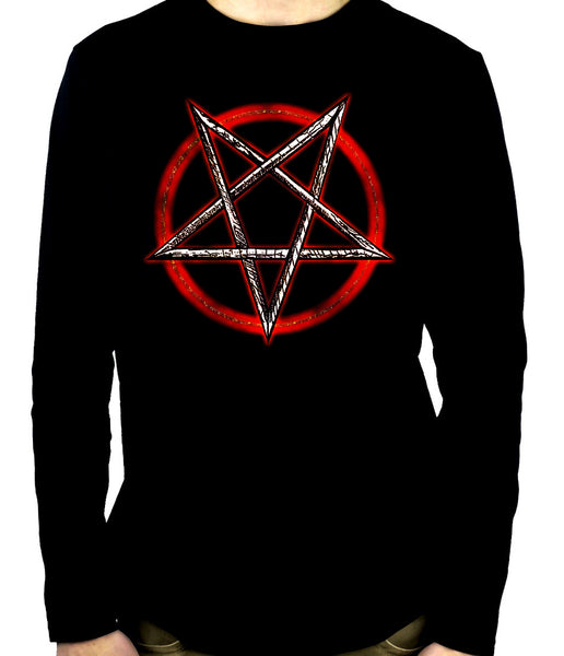 Inverted Pentagram Long Sleeve Shirt Occult Clothing