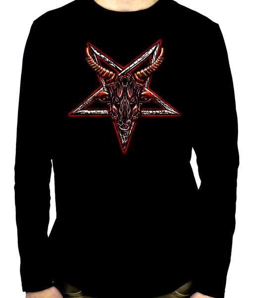 Sigil of Baphomet Sabbatic Goat Head Men's Long Sleeve T-Shirt