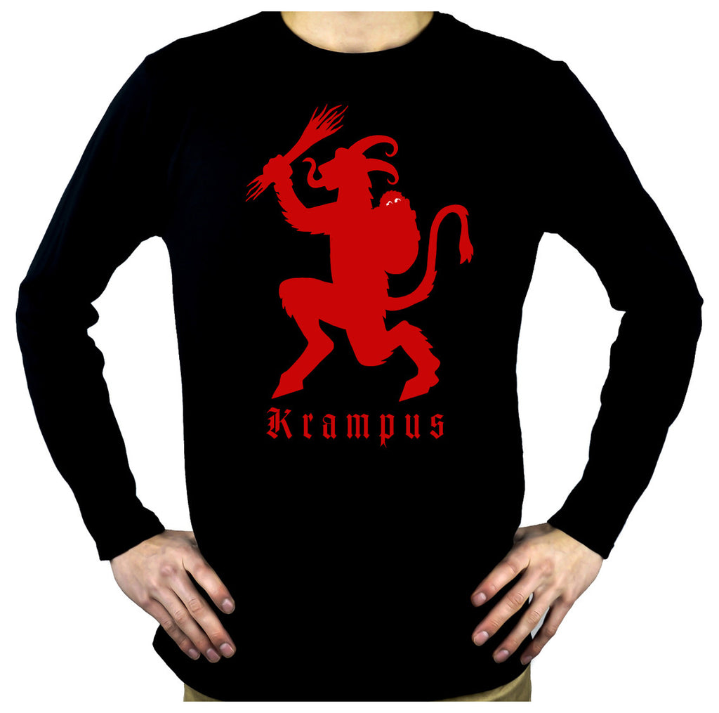 Gruss Vom Krampus Men's Long Sleeve T-Shirt Occult Horror Christmas Clothing